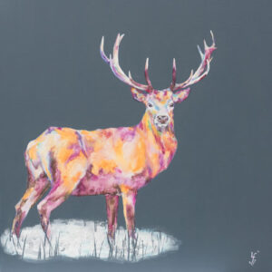 Midnight Watch Stag Print