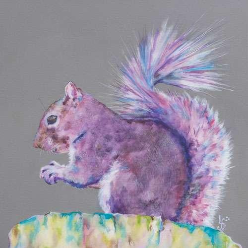 Purple Haze Squirrel print