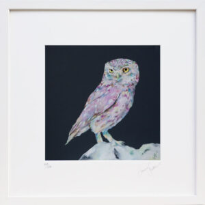 Living on the Edge Owl print