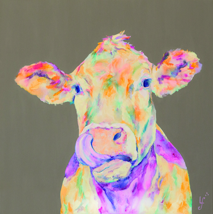 Lickity Moo Cow Print