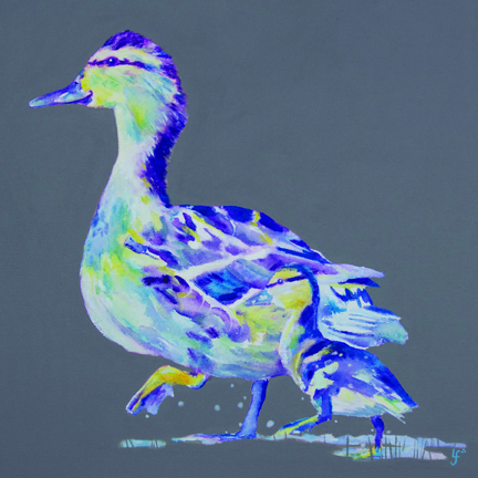 Follow the leader ducks print