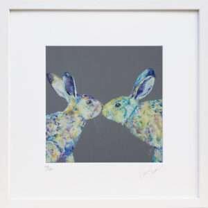 Kissy Lips rabbit print