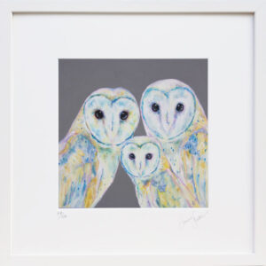 Family is everything Barn Owls print