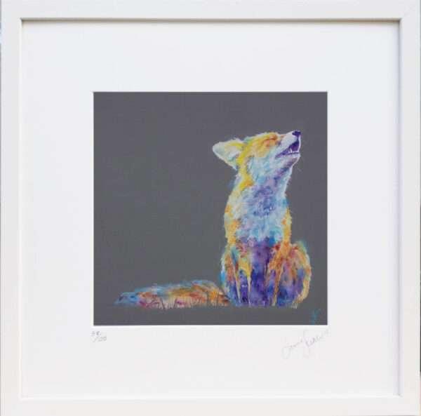 Moonlit Serenade Fox print