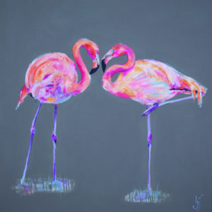 Flamingo original painting