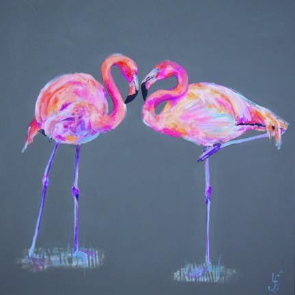 Flamingo original painting