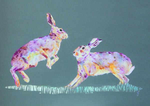 Frolics Hare print