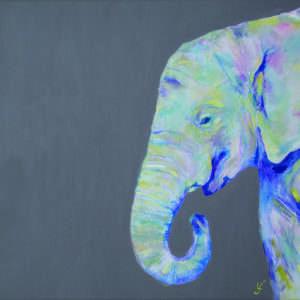 Hey Sister Elephant print