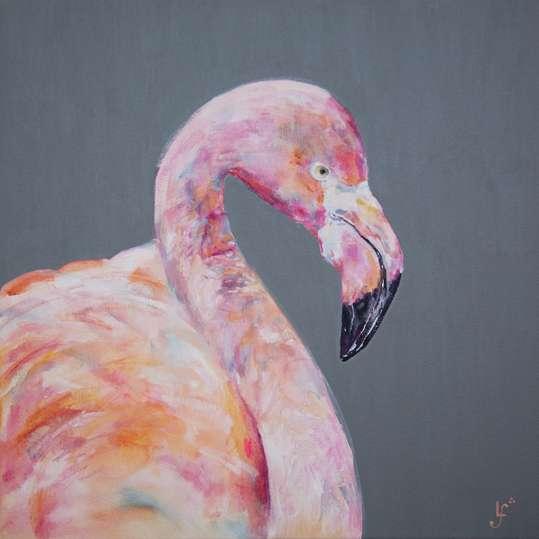 Pink Parade Flamingo print