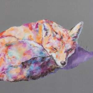 Fox Asleep Fox Print