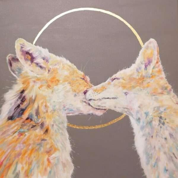 Harmony Foxes Kissing