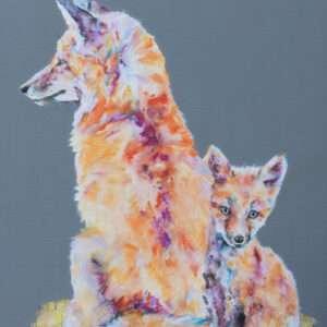 A Mother's Love Fox & Cub Print