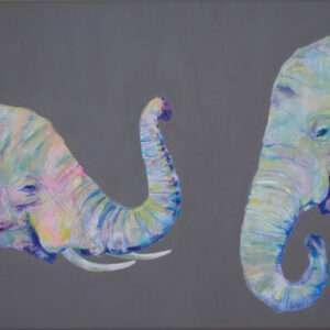 Elephants original painting