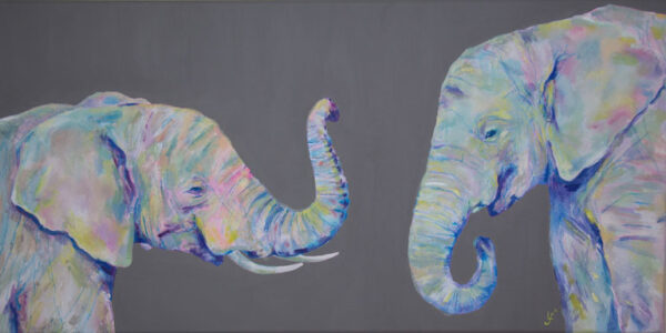 Elephants original painting