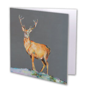 Believe Stag Greeting Card