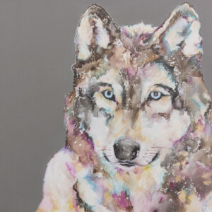 Aurora's Gaze Wolf Print