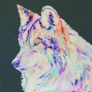 Keeping Watch Wolf print