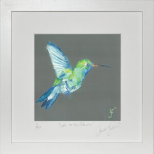 Look to the future hummingbird print